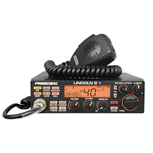 President (Lincoln II Plus)  - AM/FM/USB/LSB/CW/PA,  Black, 10 & 12 Meter Amateur Mobile Radios