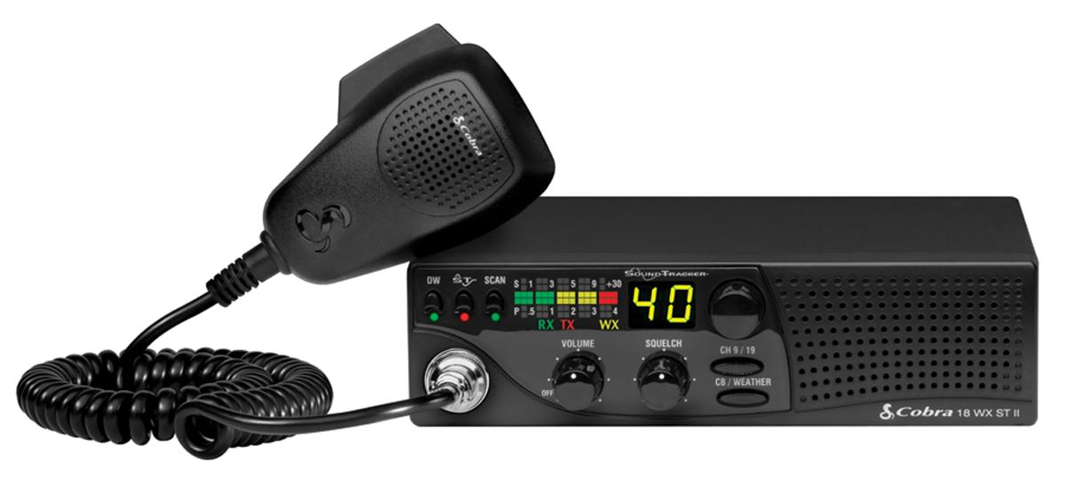 Cobra 18 WX ST II - Compact CB Radio with Weather and Soundtracker
