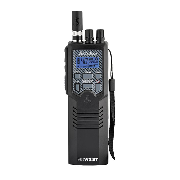Cobra HH 50 WX ST - Hand Held 40 Channel CB Radio, 10 Weather Channels and Soundtracker Noise Reduction