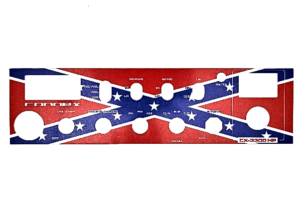 Connex (BT148N023O) - CX-3300HP OEM, Rebel Flag, With Hi/Lo Band Switch, Radio Faceplates
