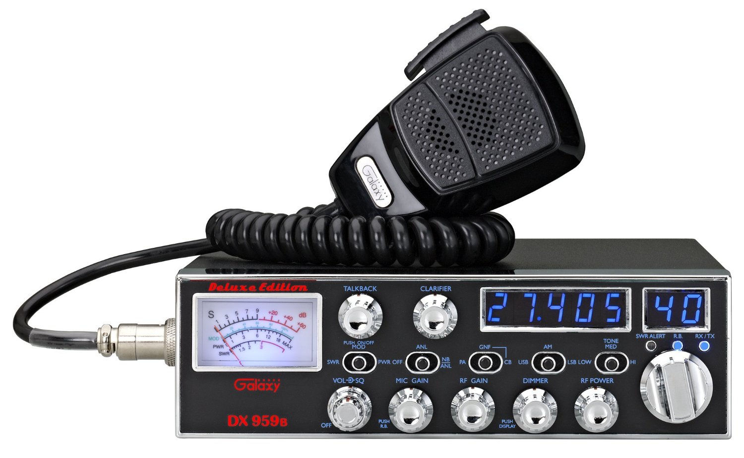 40 Channel Cb Frequency Chart : Galaxy dx b transceiver with starlite face plate