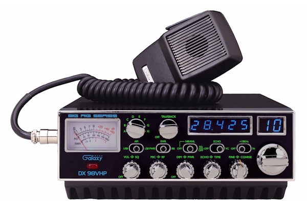 Galaxy (DX 98VHP)  - AM/USB/LSB/PA,  StarLite Faceplate, Black, 10 Meter Amateur Mobile Radios