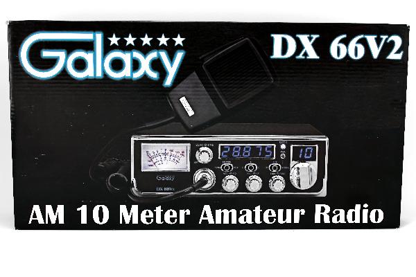 Galaxy Dx 66V2 - Am, Black, 10 Meter Amateur Mobile Radios-3159
