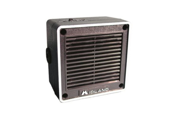 Midland (21-404C) - 4in Communications Extension Speaker, 8 Ohm, 3.5mm Plug, 6 Watt, Mounting Bracket and Hardware, Communications Speakers