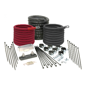 "Tundra Installation Kit (CM2012) - 2000W Inverter DC Installation Kit, Industrial Grade, 12 Feet 1/0 AWG Cable, 200A CNL Fuse, ""Everything in One Box"", Power Inverter Accessories"