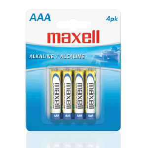 Maxell (723865) - AAA Alkaline Batteries, Long-lasting and Reliable, 4 Pack, Batteries