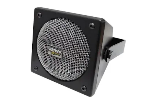 "Driver Extreme (DRX-9010) - DX901 4"" Premium Wedge Designed External Speaker, Black Finish with Chrome Mesh Grill, 15 Watt, Communications Speakers"