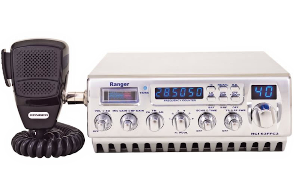 Ranger (RCI-63FFC2) - AM/FM/PA, Chrome, 10 Meter Amateur Mobile Radio