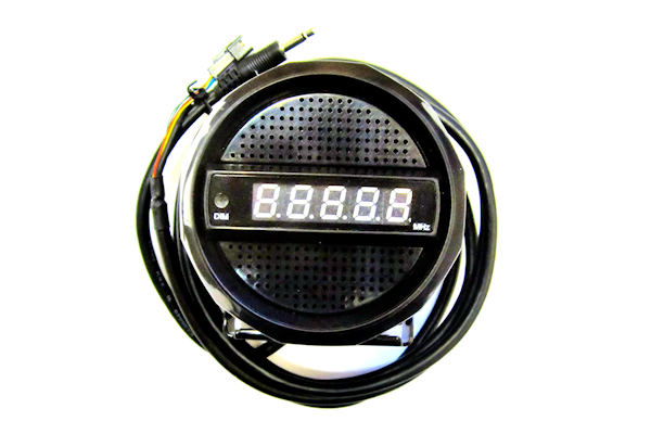 ~Ranger (SRA-166FB) - 4in High Quality CB Extension Speaker with Frequency Counter, Black, Blue LED Display, Communications Speakers, Frequency Counters