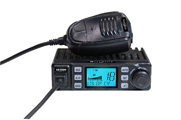 Stryker (SR-25MC) - AM/FM, 7-Color LCD Display, Very Compact, Black, Factory Warranty Only, 10 Meter Mobile Amateur Radios