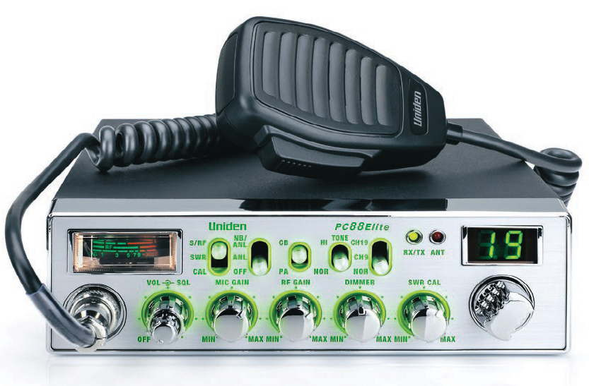 Uniden PC88ELITE - Trucker's 40 Channel CB Radio with Enhanced Night Vision Display