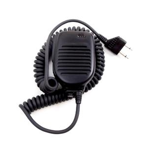 Workman (#DM100) - Lapel Speaker/Microphone for Most ICOM, Standard & Yaseau Hand Held Radios, 2-Pin Connection with Earphone Jack, Mobile Comm. Microphones