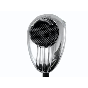Workman (#SS56KC) - Chrome Noise Canceling CB Mic, 4-Pin